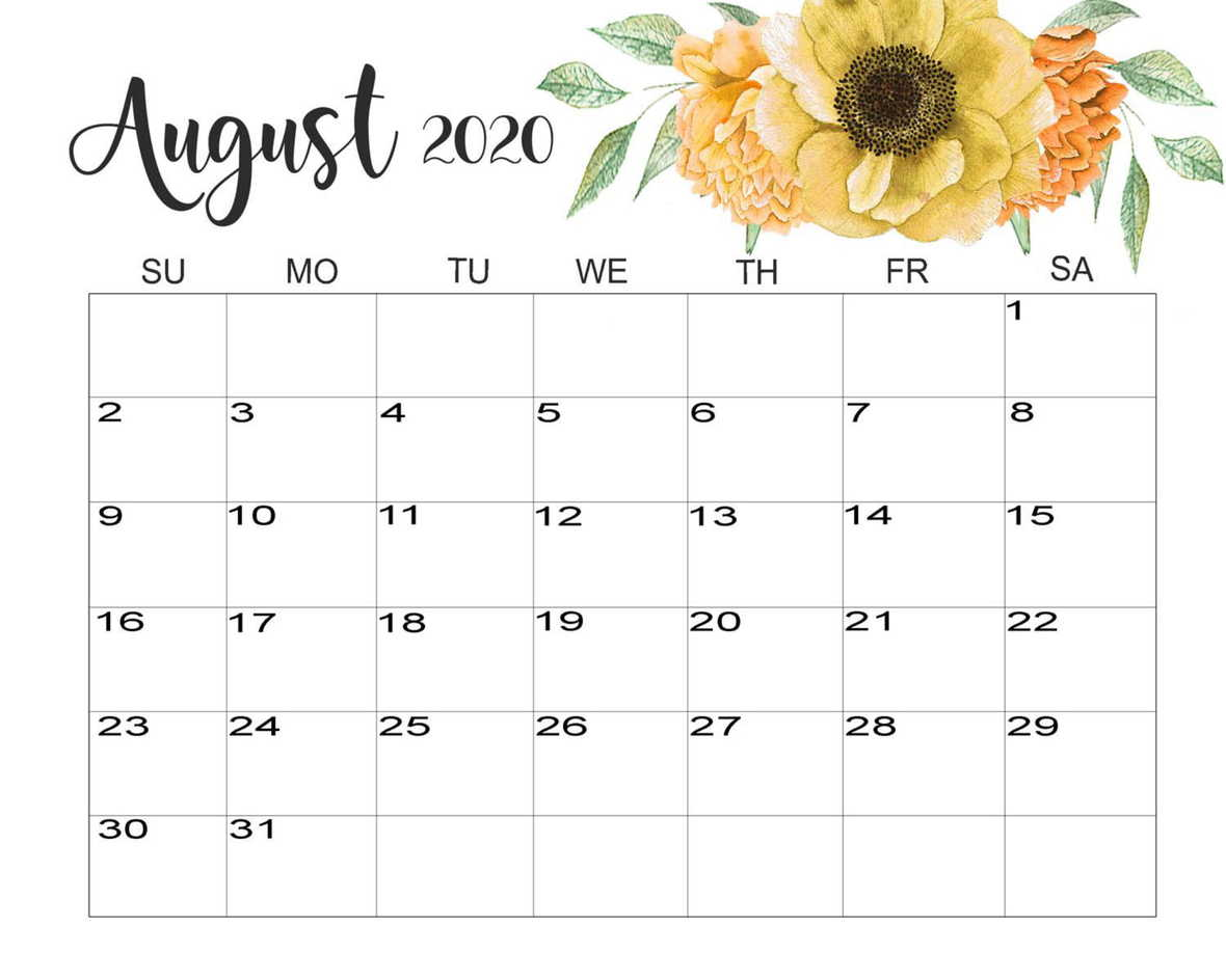 August-2020-Calendar-Cute