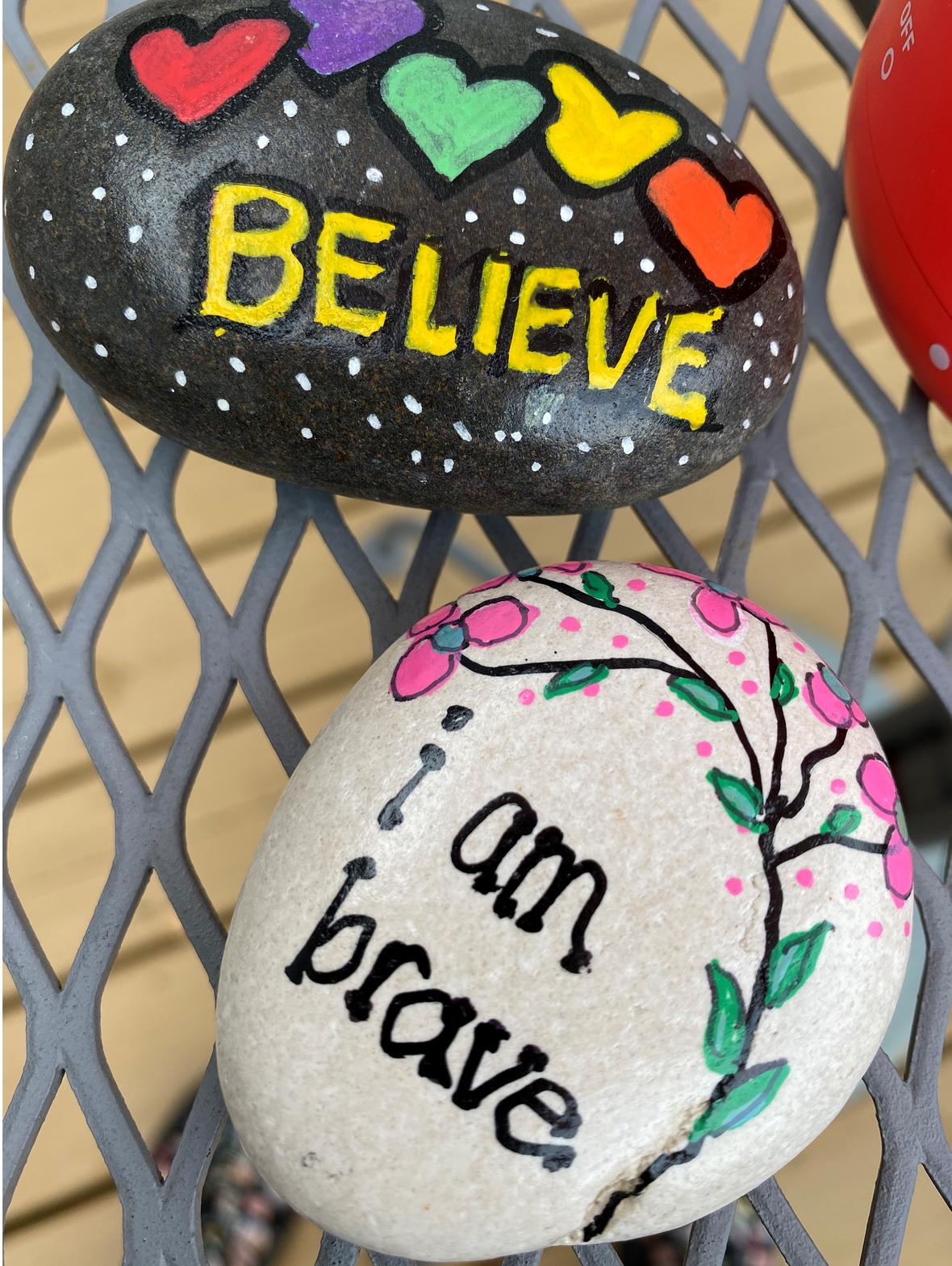 Painted Motivational Rocks