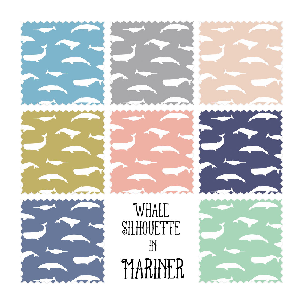 whale silhouette swatches