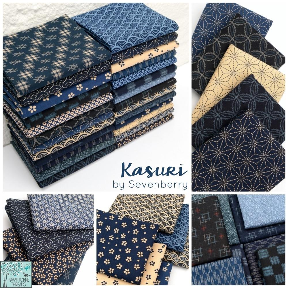 Kasuri fabric poster