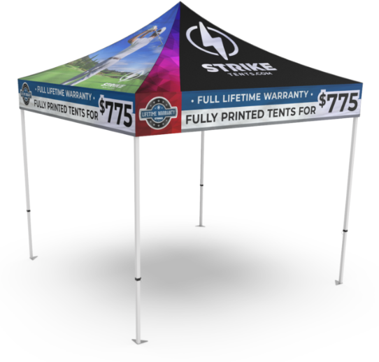 Sweepstakes Strike Tent