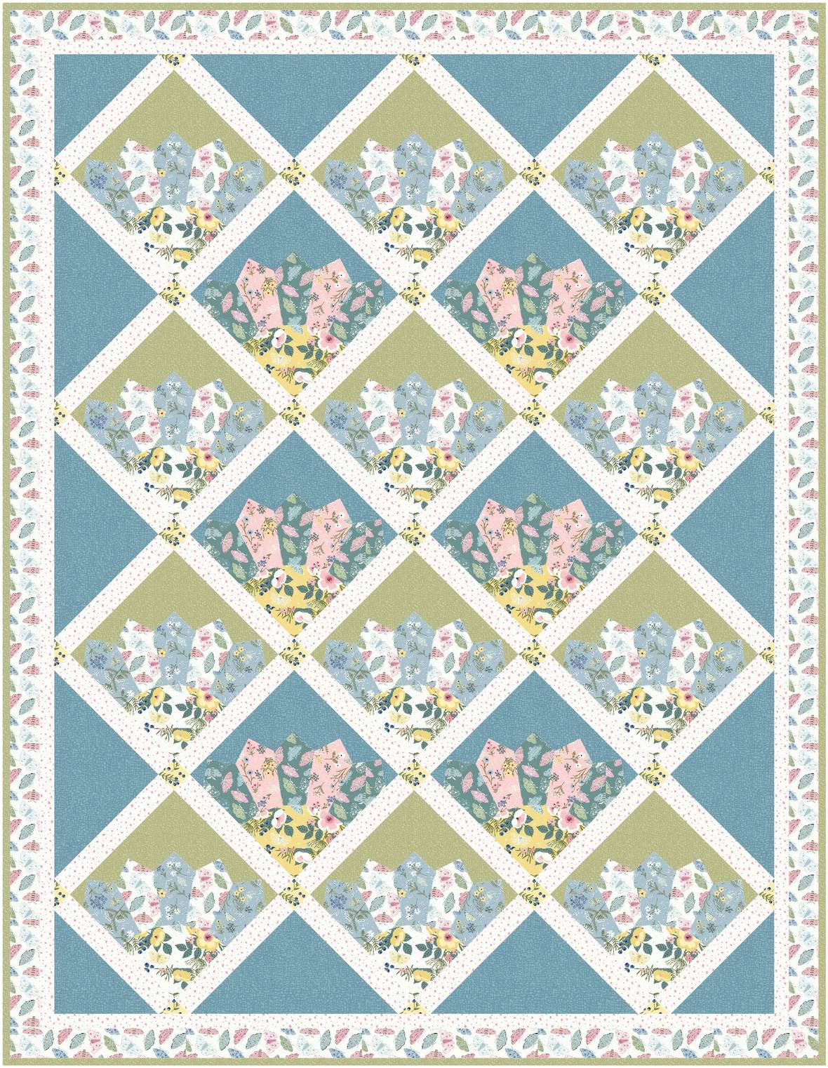 Wildflowers 55x71 by Natalie Crabtree Free Quilt Pattern