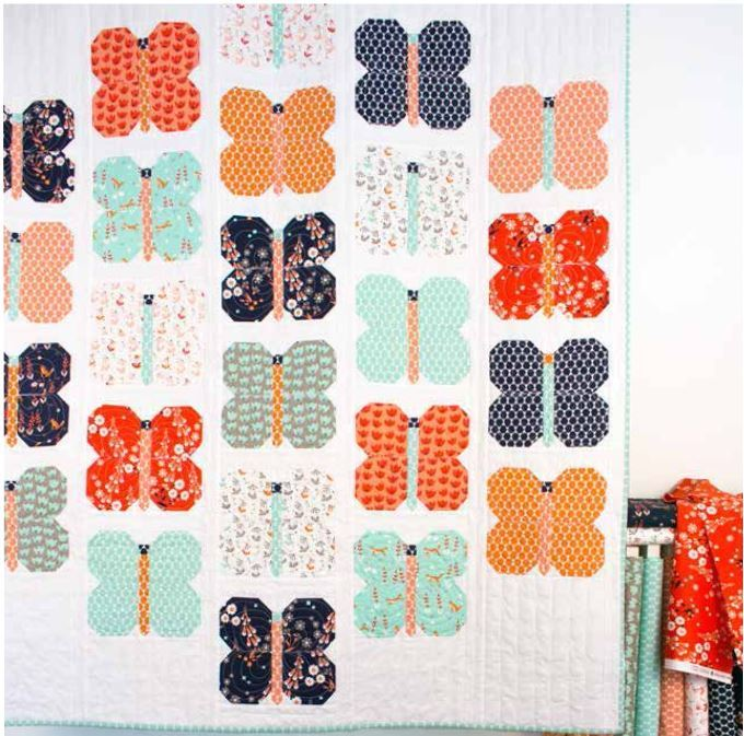 aneela hoey flutter quilt kit sewing pattern