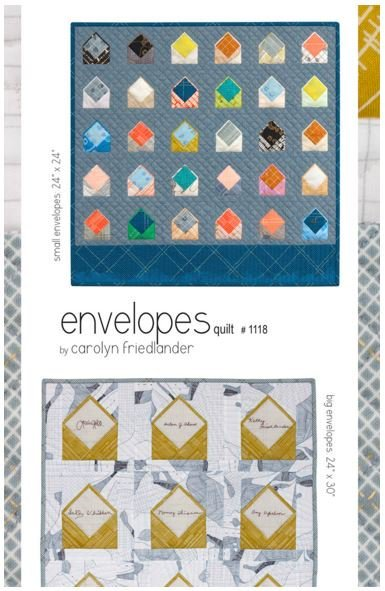 carolyn friedlander envelopes quilt sewing pattern