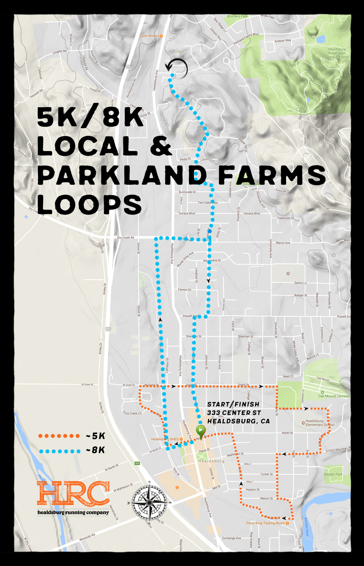 5K turkey trot with parkland farms