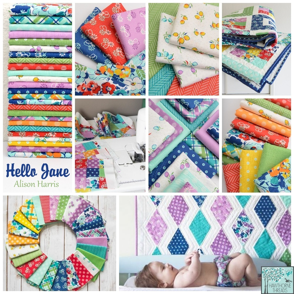 Hello Jane Fabric Poster