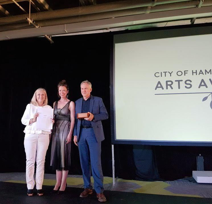 Claire accepts HAA award June 8-2017