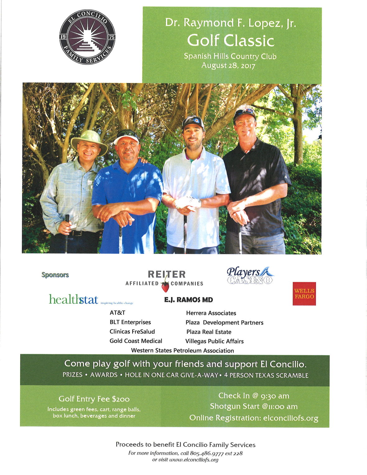 Aug. 28 — El Concilio Family Services to present the 'Dr. Raymond F. Lopez, Jr. Golf Classic'