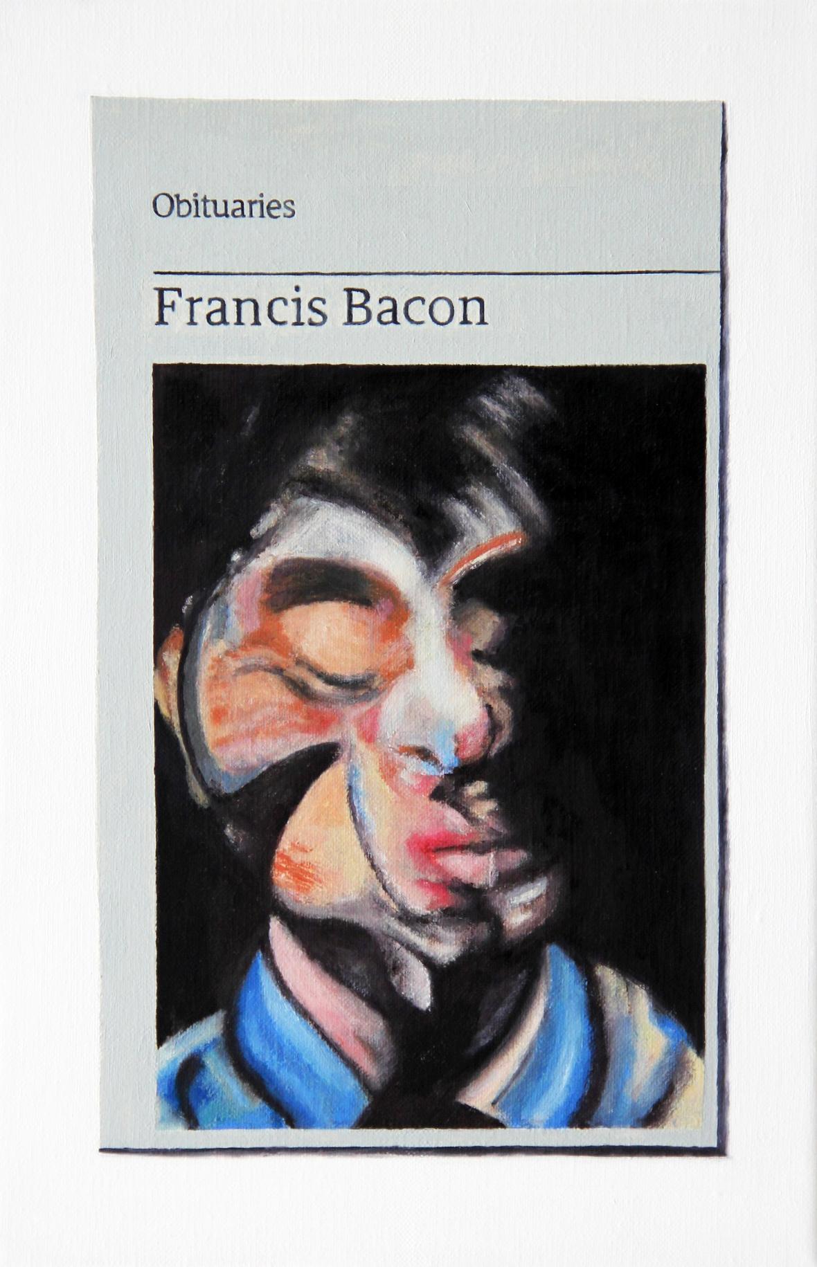 Mendes Hugh Obituary Francis Bacon 2017 Oil on linen 30x20cm