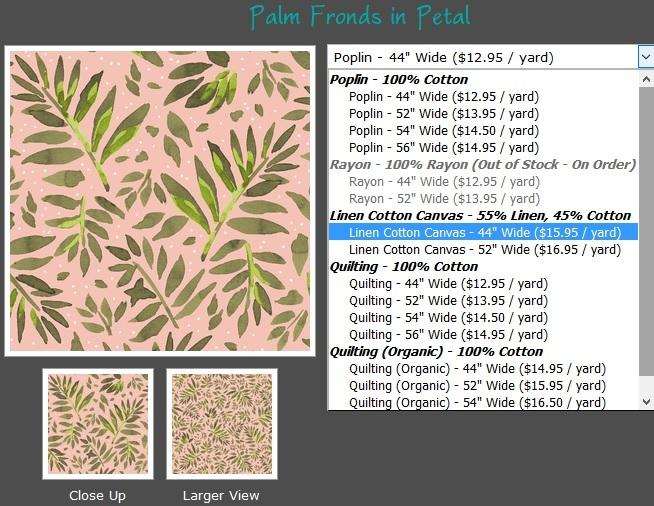 New Linen Cotton Canvas