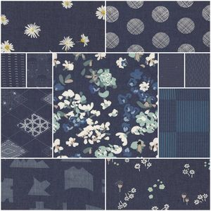 3955 denim prints fat quarter bundle