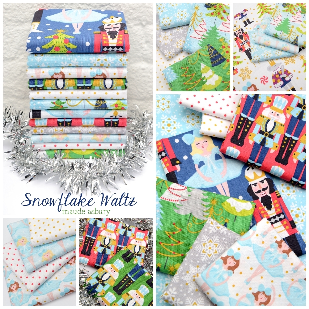 Snowflake Waltz Fabric Poster