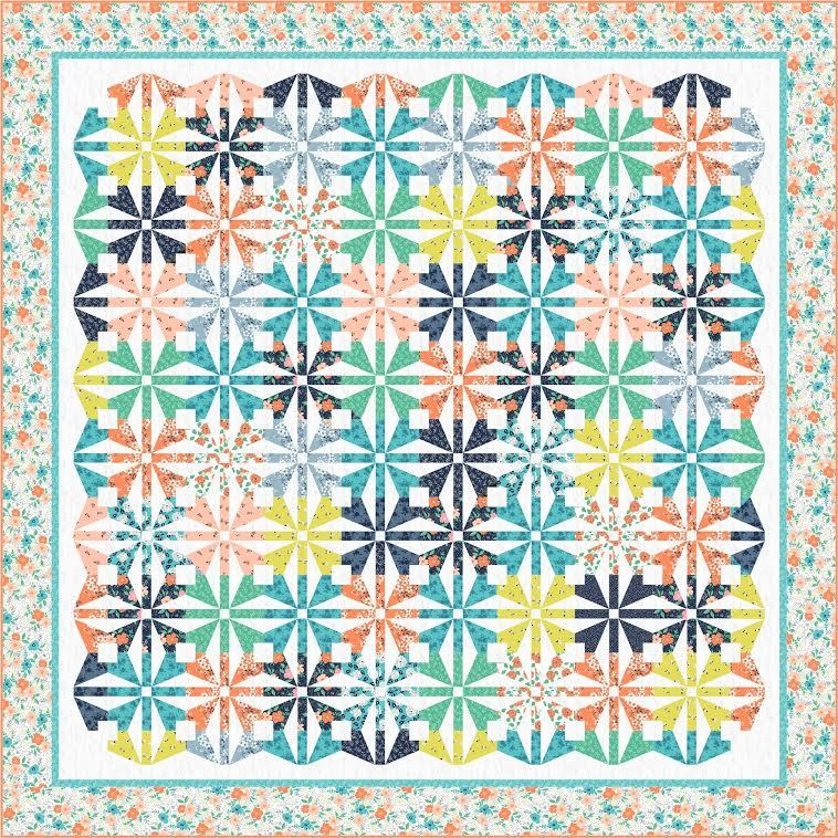 windham-free quilt kit-floral shower