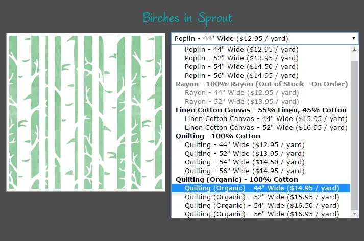 Hawthorne Threads Organic Cotton Fabric Birches