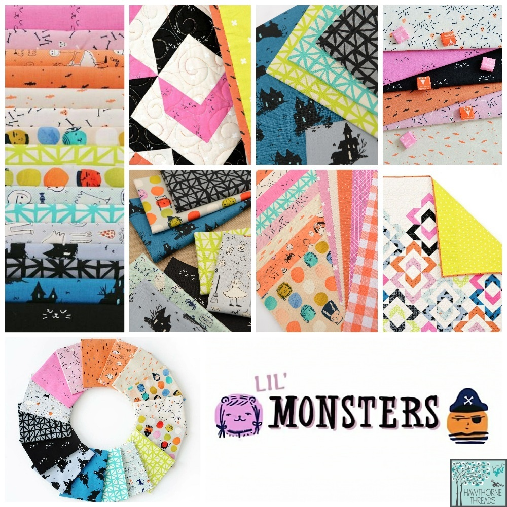 Lil Monsters Fabric Poster