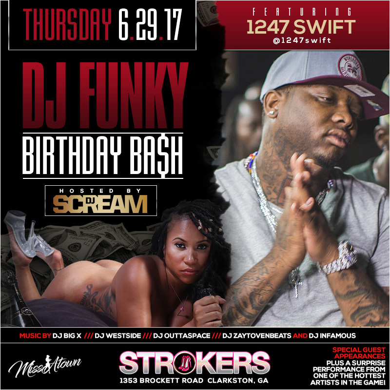 dj funky bday bash flyer 1247 swift