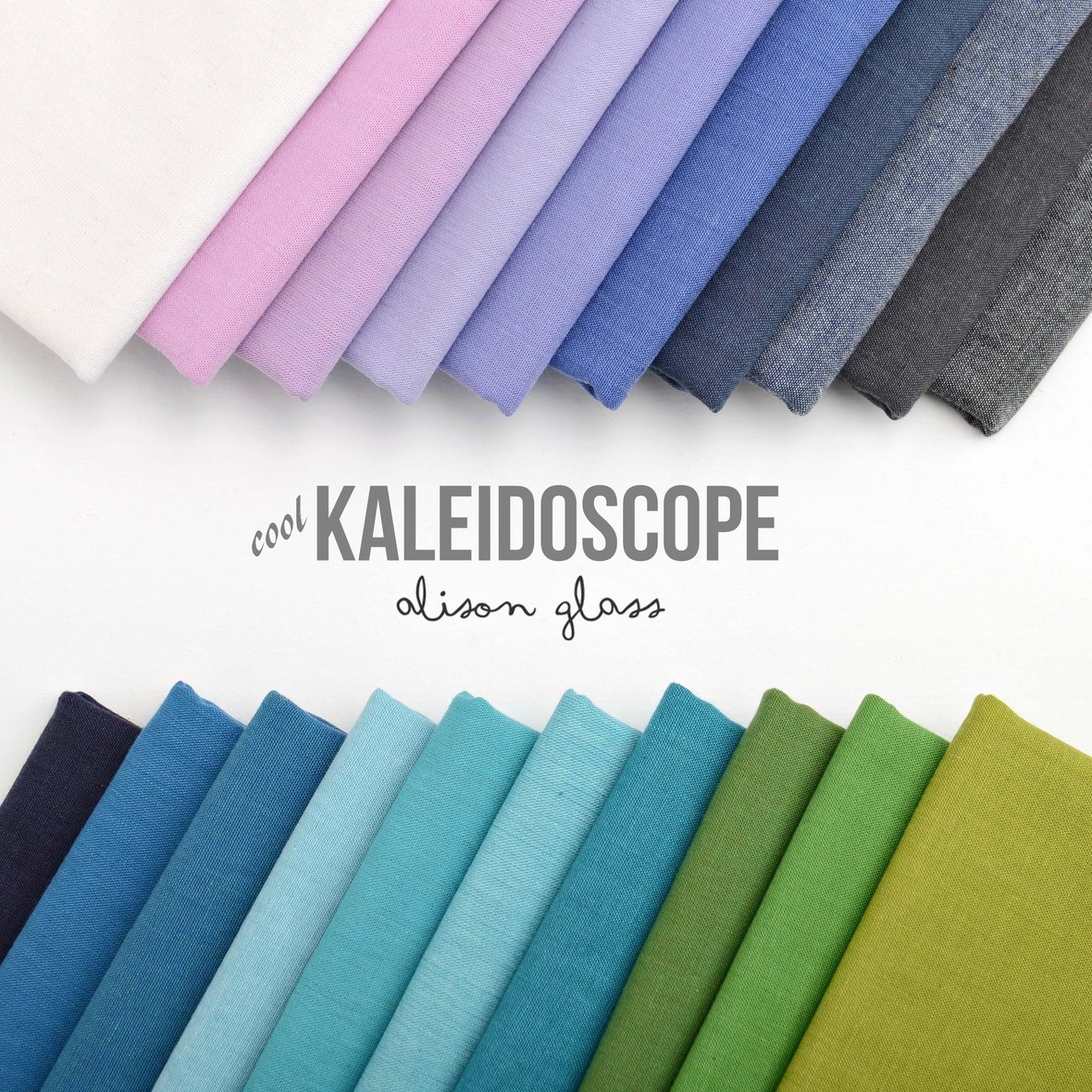 Kaleidoscope Cool Fabric Poster Alison Glass at Hawthorne Threads