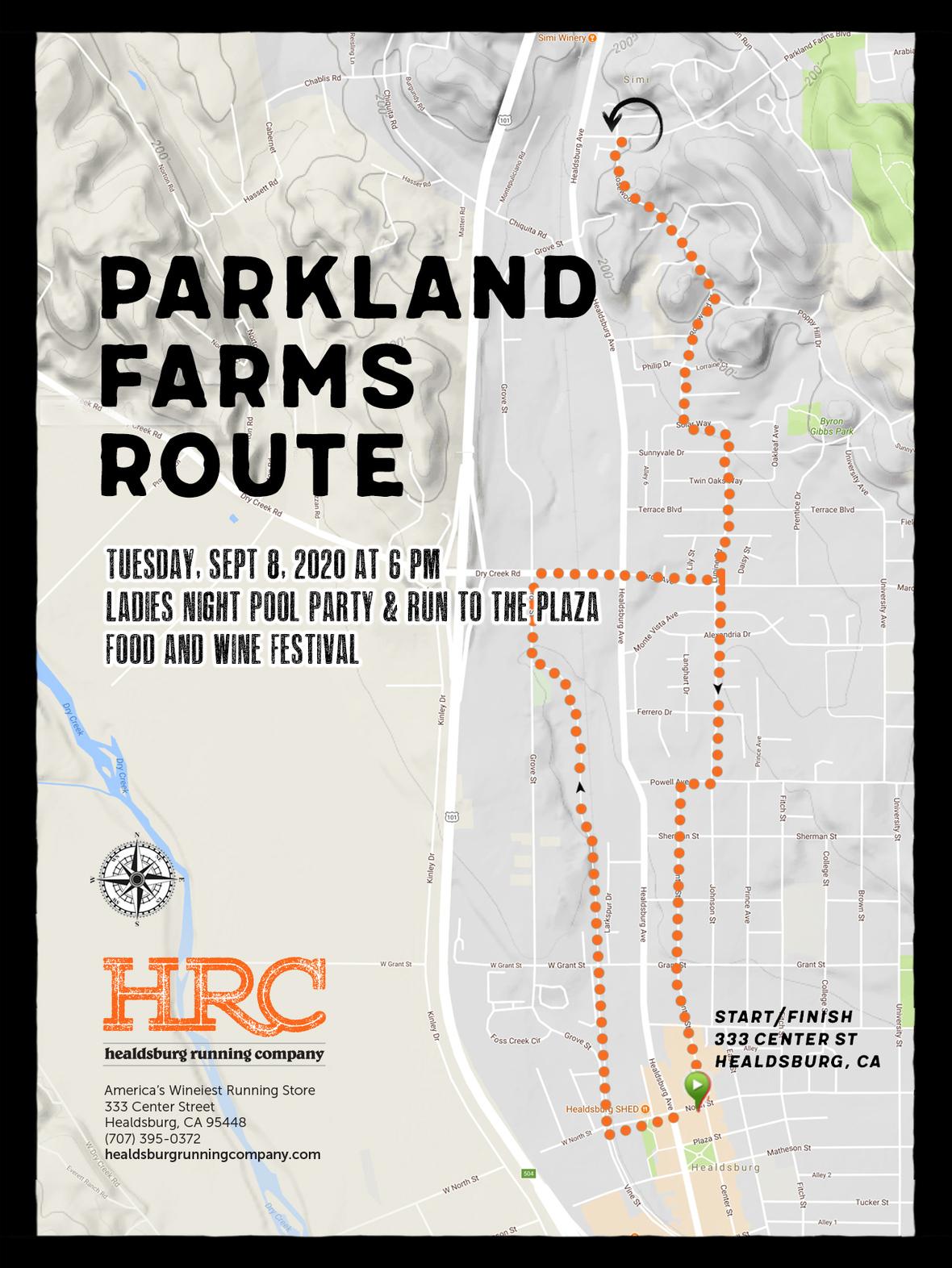parkland farms route