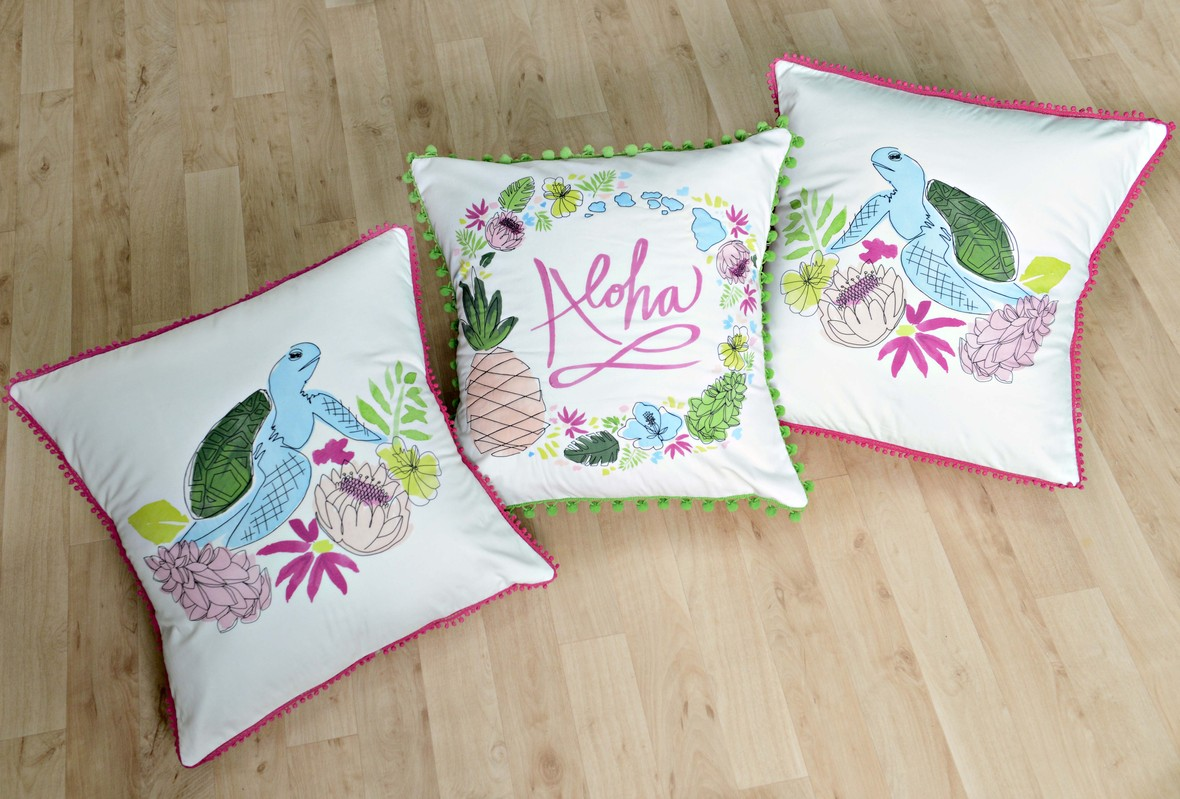 Aloha Fabric Pillows