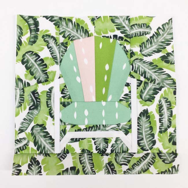 Botany Paper Pieced Retro Lawn Chair b