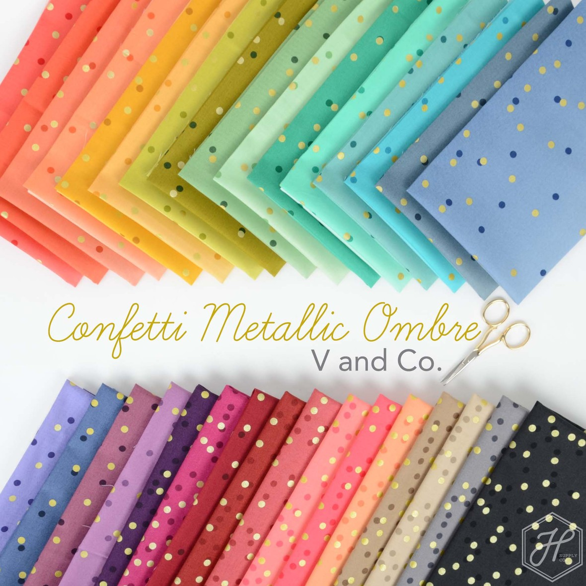 Ombre Confetti Moda V and Co at Hawthorne Supply Co