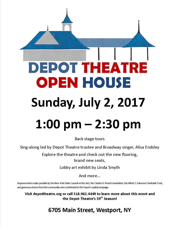 c11c2d95f50ad depot theatre public open house poster