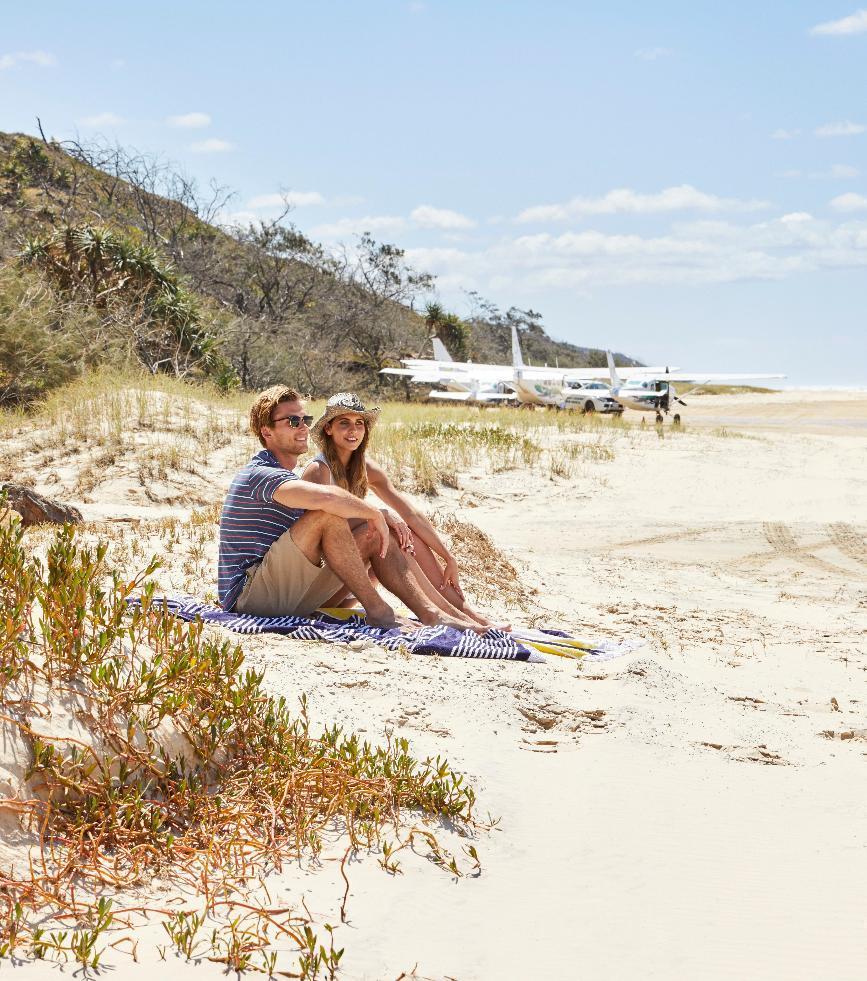 Fraser Island by air