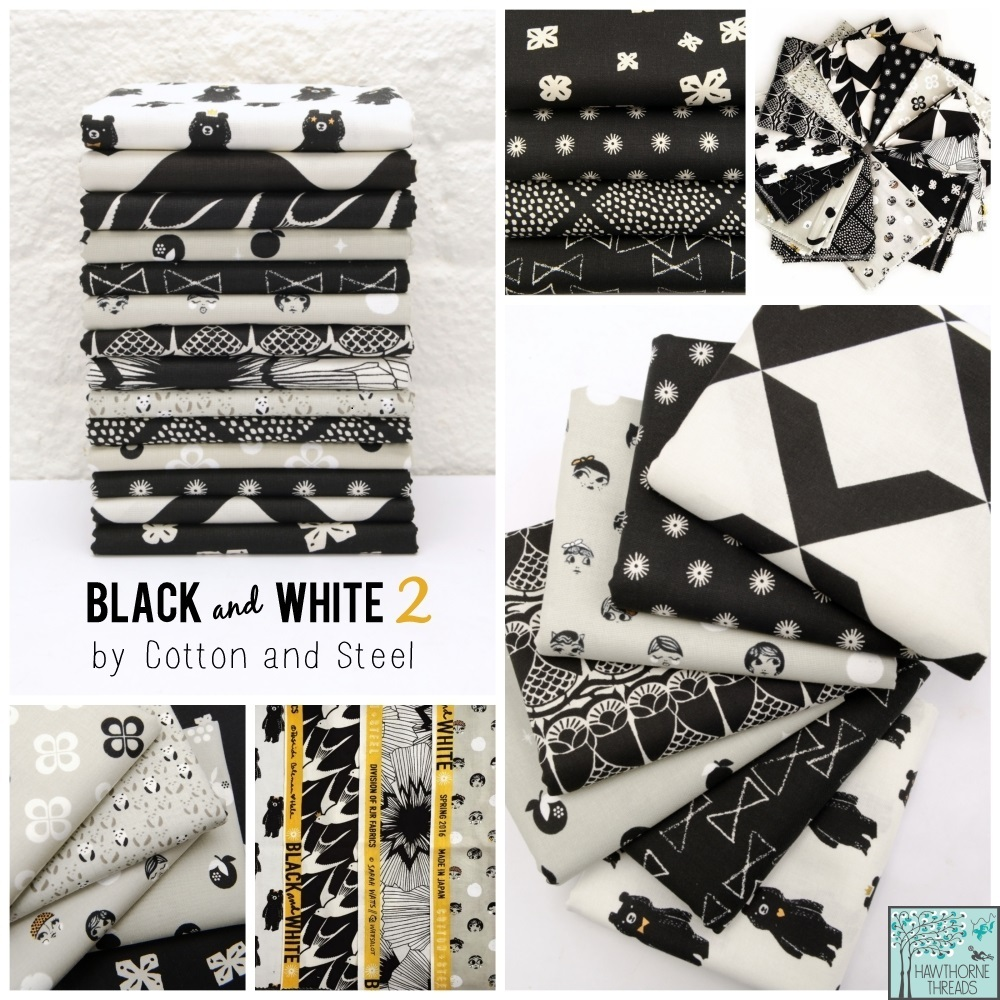 black and white 2 fabric poster