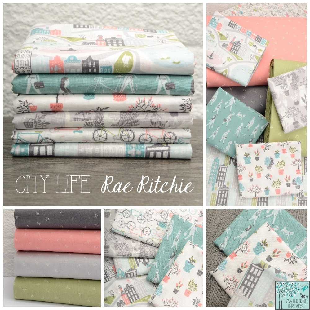 City Life Fabric Poster