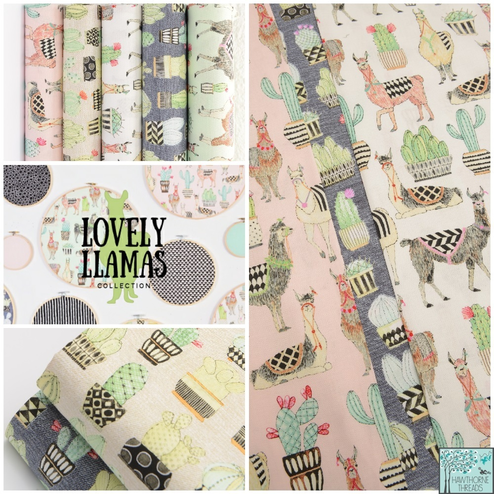 Lovely Llamas Fabric Poster