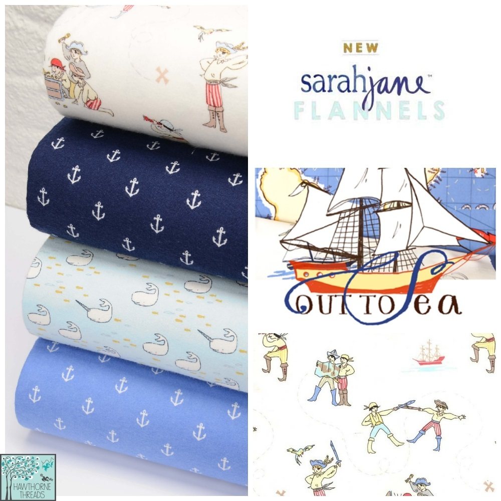 Out to Sea Flannel Fabric