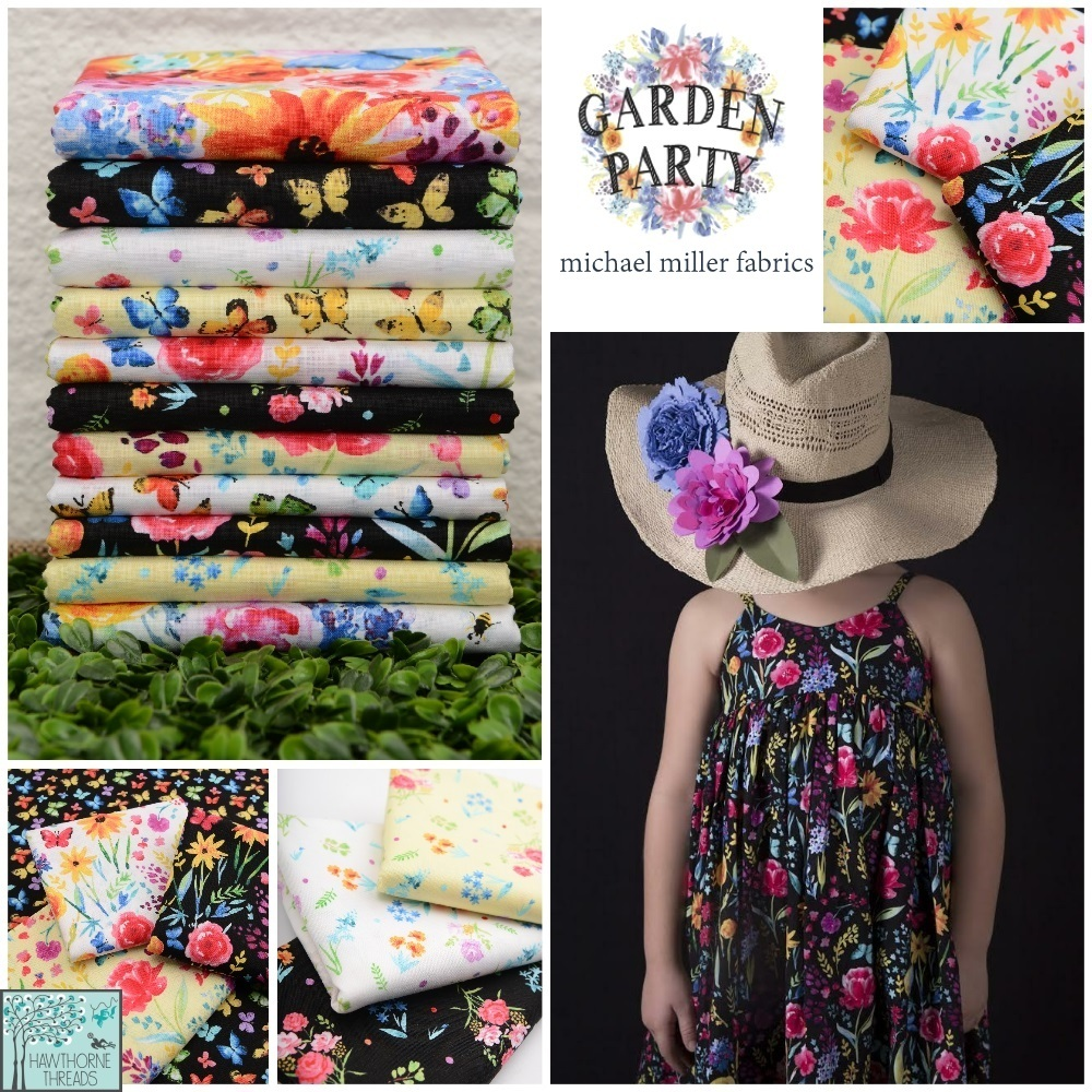 Garden Party Fabric Poster