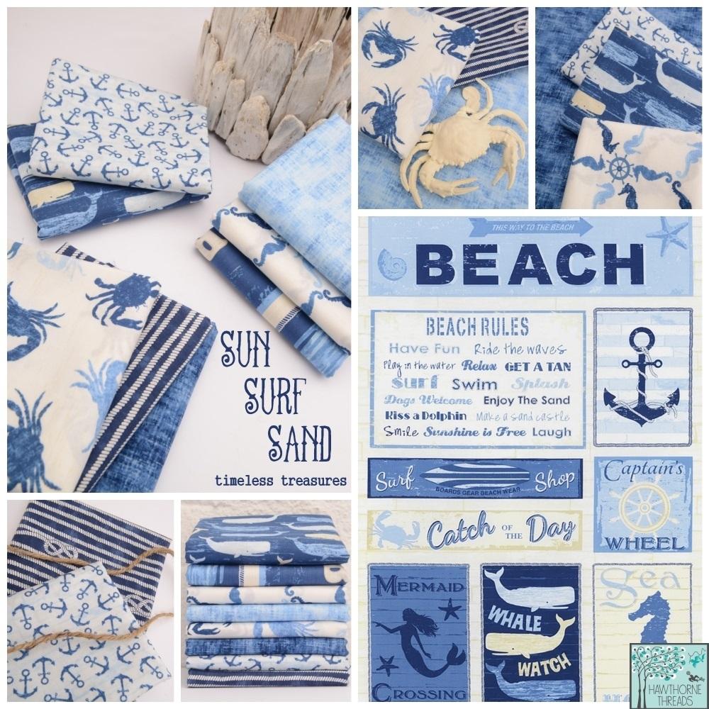 Sun Surf Sand Fabric Poster