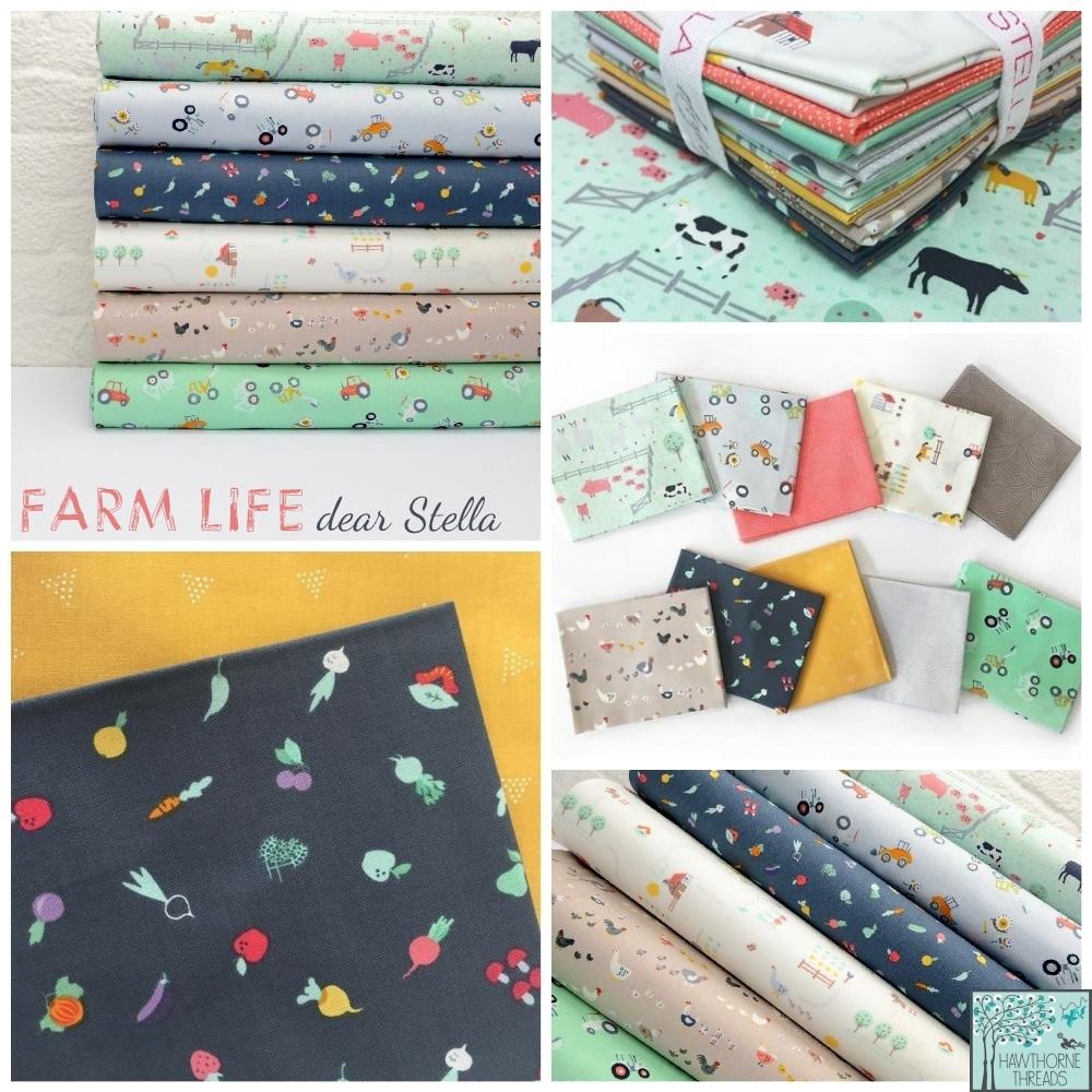 Farm Life Fabric Poster