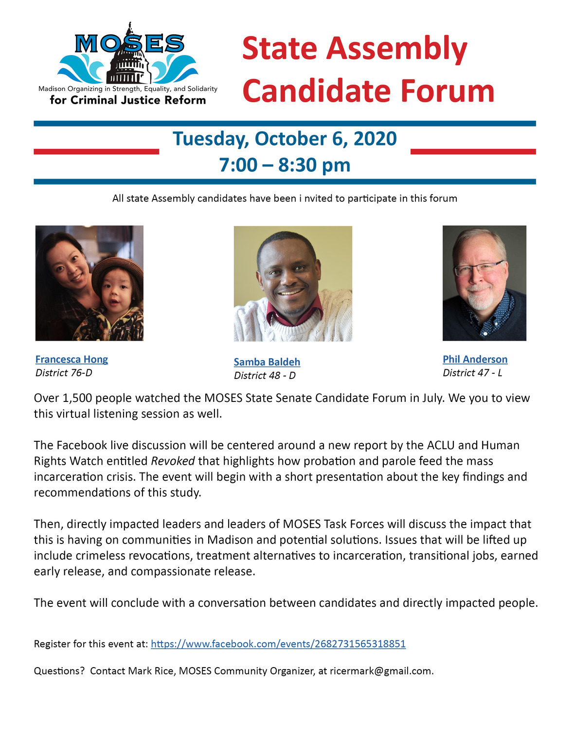 Assembly Candidate Forum October 2020