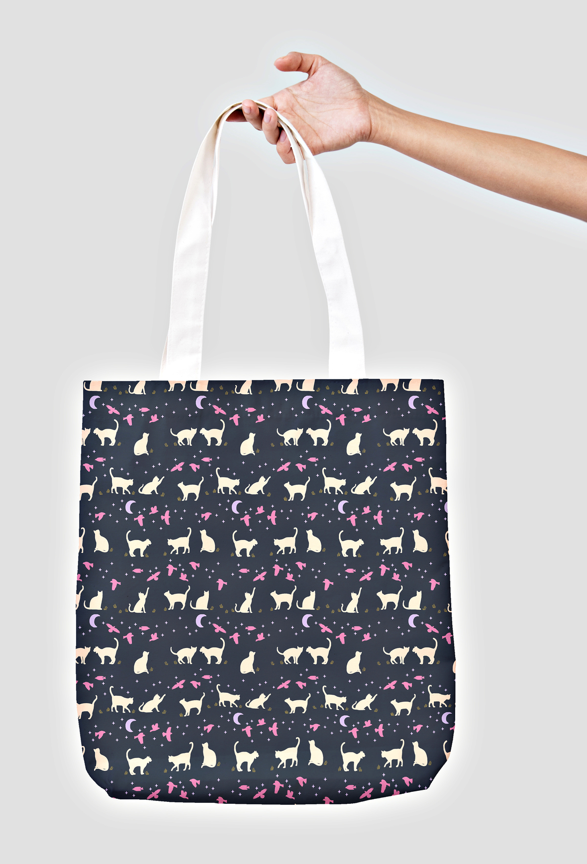 Tote - Small Ally Cats in Eclipse