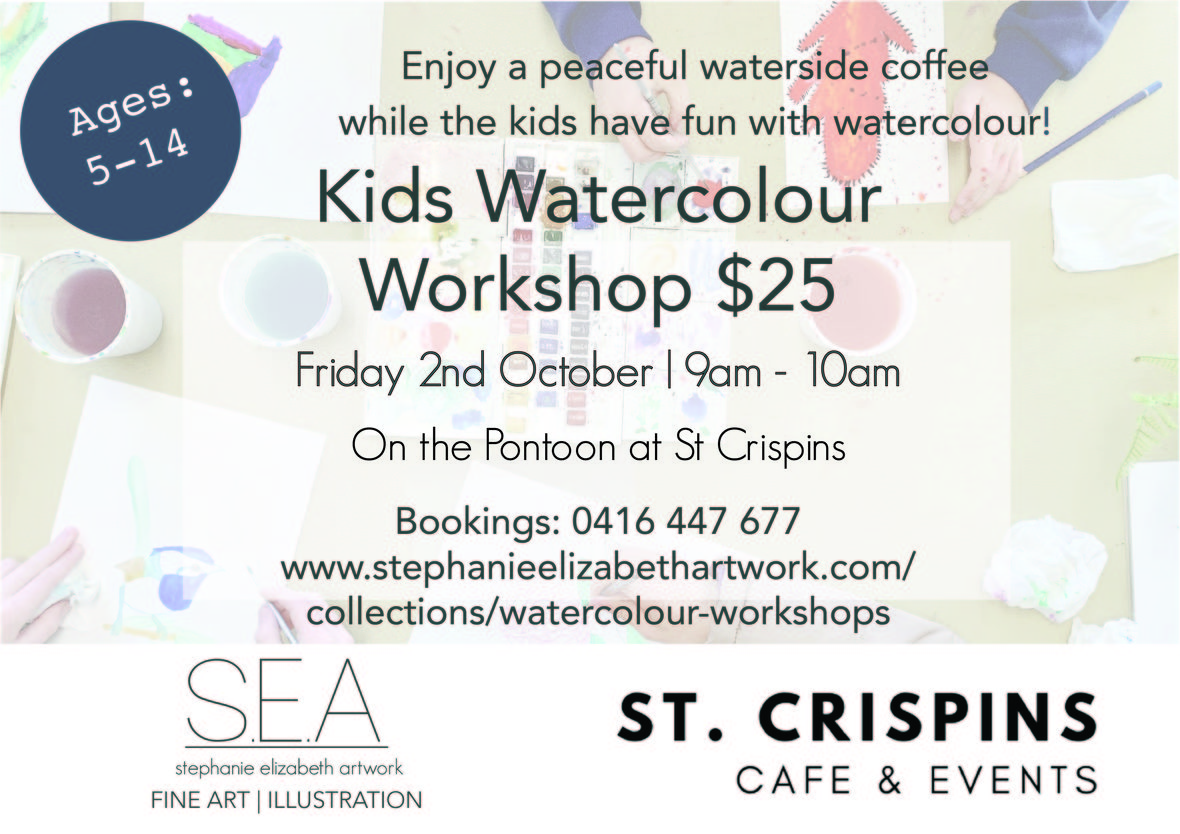 Kids Watercolour Workshop St Crispins