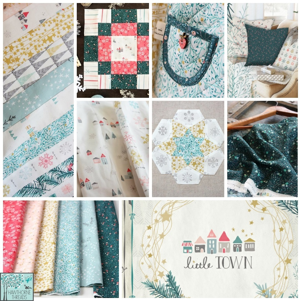 Little town Fabric Poster