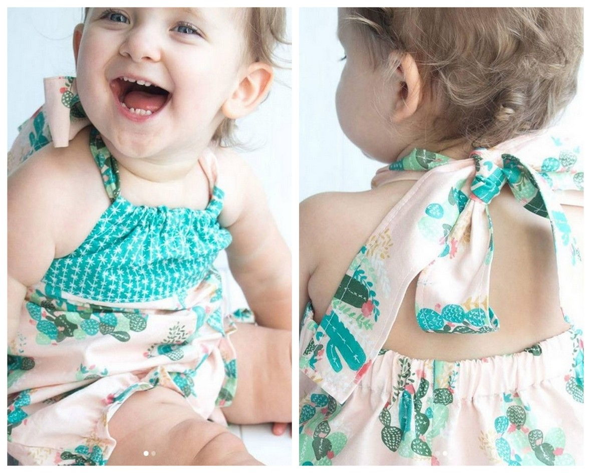 Paisley and Peppermint Palm  Springs Romper Front and Back