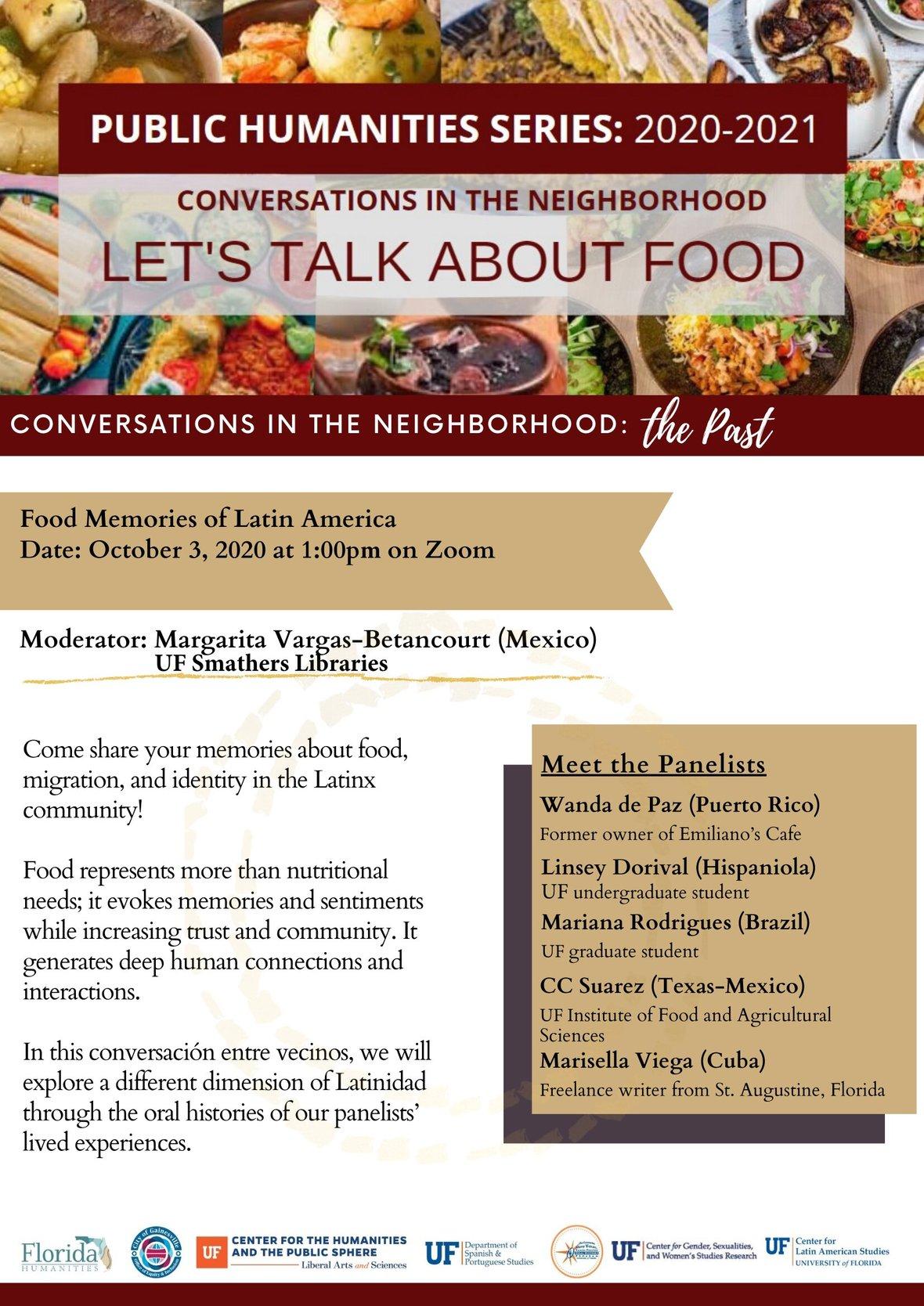 09222020 Food Memories Flyer