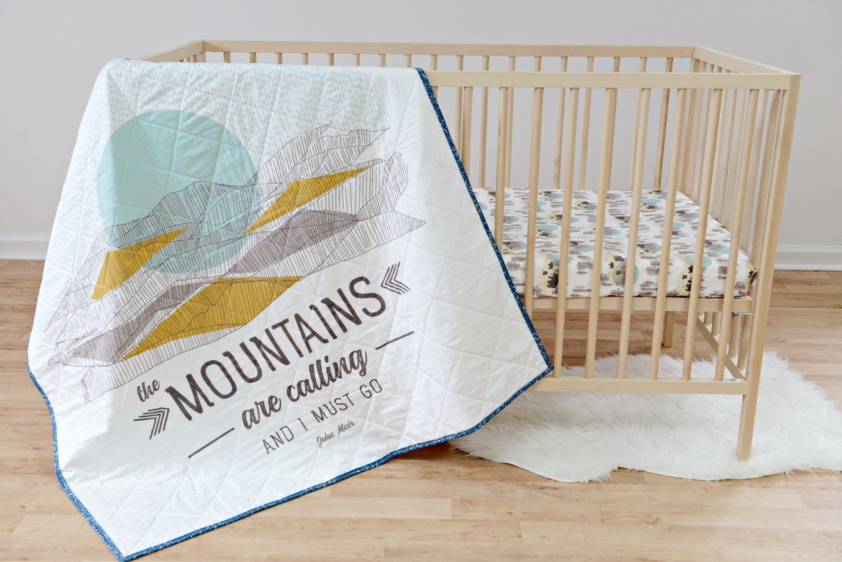 Redwood Fabric Quilt and Crib Sheet