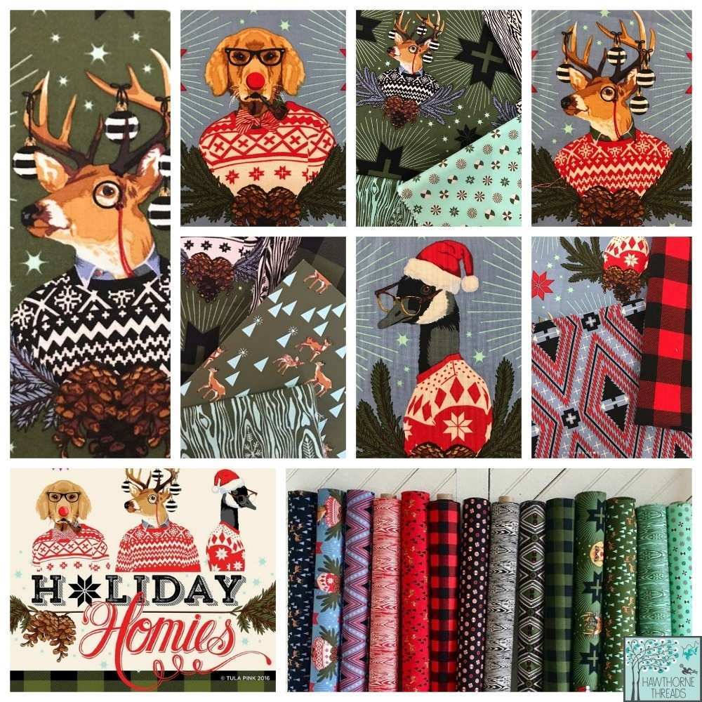Holiday Homies Fabric Poster