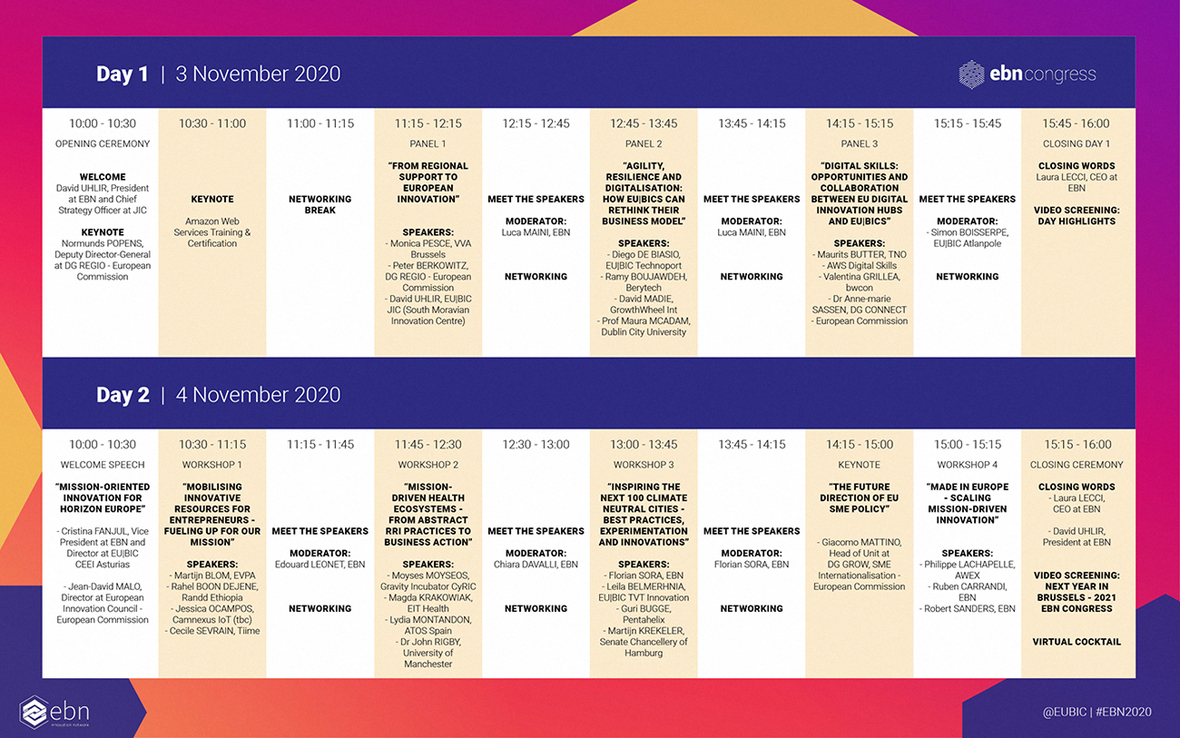 Congress - schedule - programme overview lores