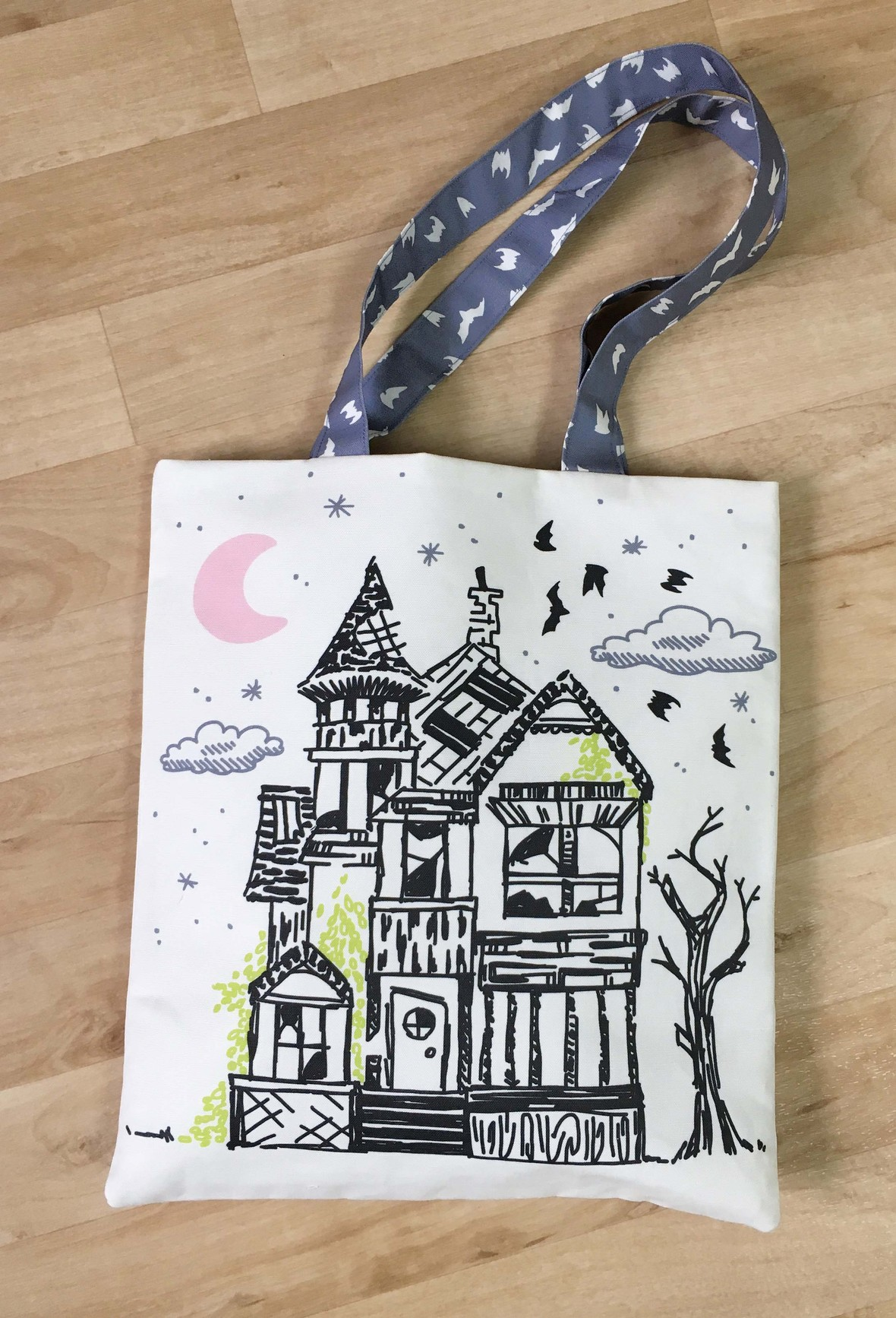 Haunted Fabric Trick or Treat Bag b