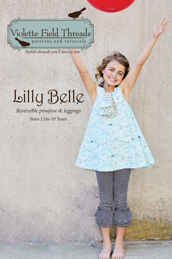 violette field threads lilly belle pinafore and leggings sewing pattern