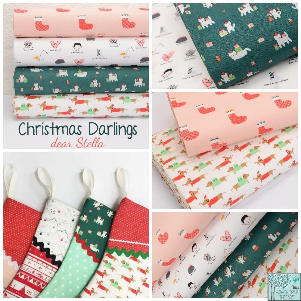 Christmas Darlings Fabric Poster