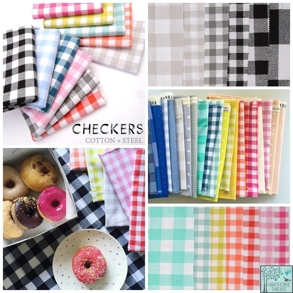 Checkers Fabric Cotton and Steel