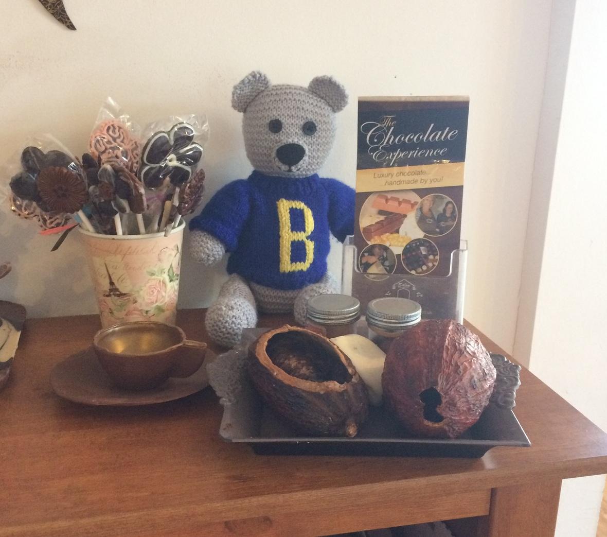 Birdham Bear at Le Salon Du Chocolat
