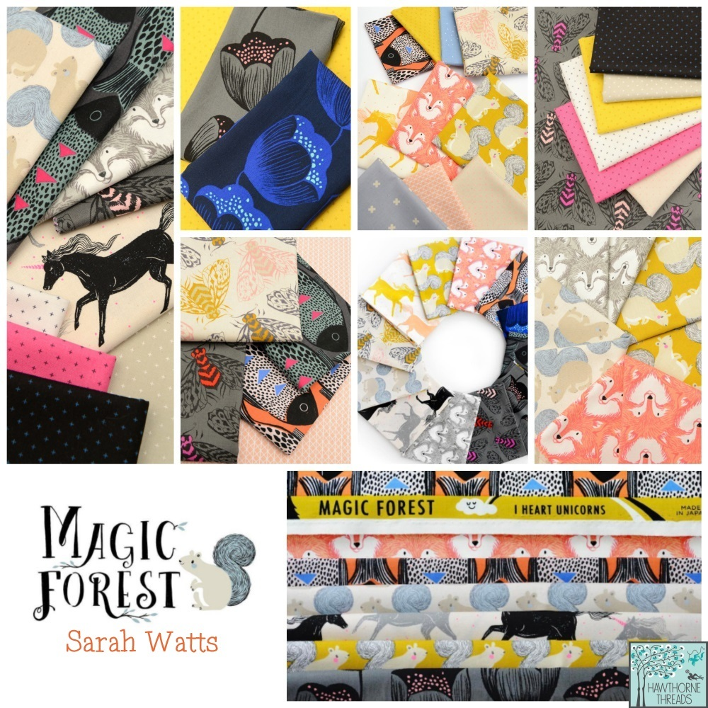 Sarah Watts magic forest fabric poster
