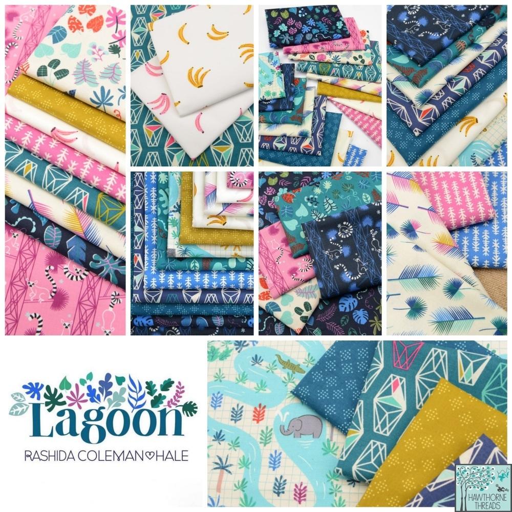 Rashida Lagoon fabric poster